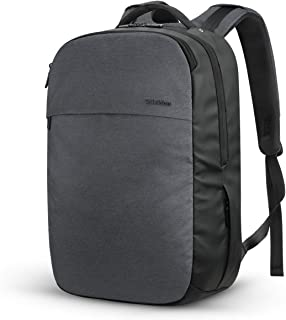 SHIELDON 15.6-inch Laptop Backpack, Business Travel Slim Durable Carry-on Computer Bag 21L with Anti Theft Pocket, USB Charging Port,Water Resistant College Schoolbag for Men Women - Black/Dark Grey