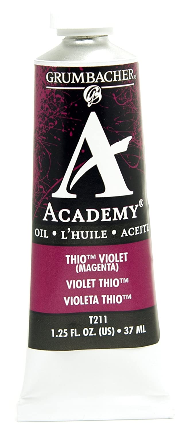 Grumbacher Academy Oil Paint, 37ml/1.25 Ounce, ThioViolet (Quinacridone Magenta) (T211)