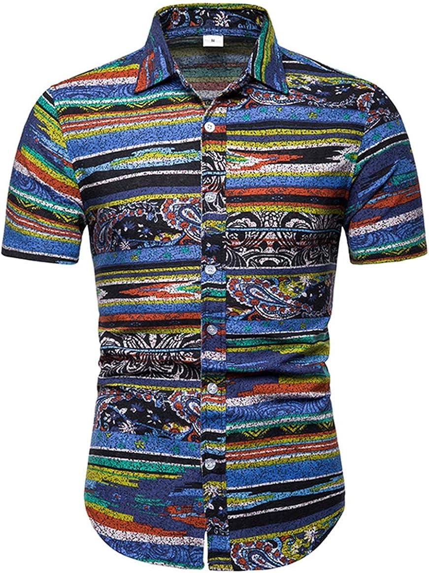 Men's Shirt Fashion Casual Classic Abstract Slim Ink Slim Short Sleeve Simple Joker Shirt Large Size