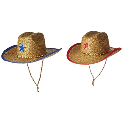 4f6d4e04e31 Fun Express Childs Straw Cowboy Hat with Plastic Star - 12 Pieces