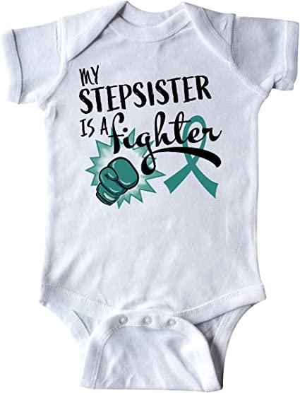 Breast Cancer Awareness Long Sleeve Creeper inktastic I Love My Stepsister