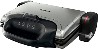 Philips Health Grill HD4467/91, 2000W power, Black, seal in the flavour with high temperature plates, multiple grilling positions: table, oven, contact grill, grill plate.