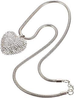 VICASKY Ornamento exclusivo para pendurar no carro com bola de cristal de coração, pingente de prisma para janela de carr...