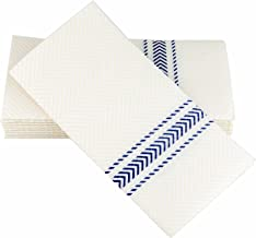 """ClassicPoint Dinner Napkins - Blue Bistro Stripe - Decorative & Disposable - Soft, Absorbent & Durable (15.5""""x15.5"""" - Pack..."""