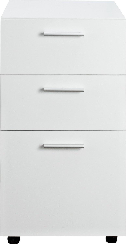 Ameriwood Home 9531196 Princeton Mobile File Cabinet, White