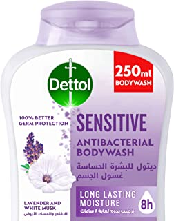 Dettol Sensitive Showergel & Bodywash for effective Germ Protection & Personal Hygiene (protects against 100 illness causi...