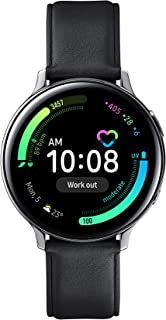 Samsung Galaxy Watch Active 2 (Bluetooth, 44 mm) - Silver, Steel Dial, Leather Straps