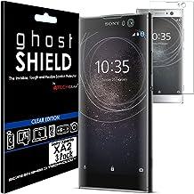 TECHGEAR [3 Stück Displayschutz Kompatibel mit Sony Xperia XA2 - [ghostshield] Genuine verstärkte TPU Displayschutzfolie Guard mit Gesamte Bildschirm Deckung inkl. Gebogener Bereich
