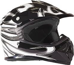 Typhoon Youth Dirt Bike Helmet Off Road ATV Motorcycle MX Kids Motocross – Black..