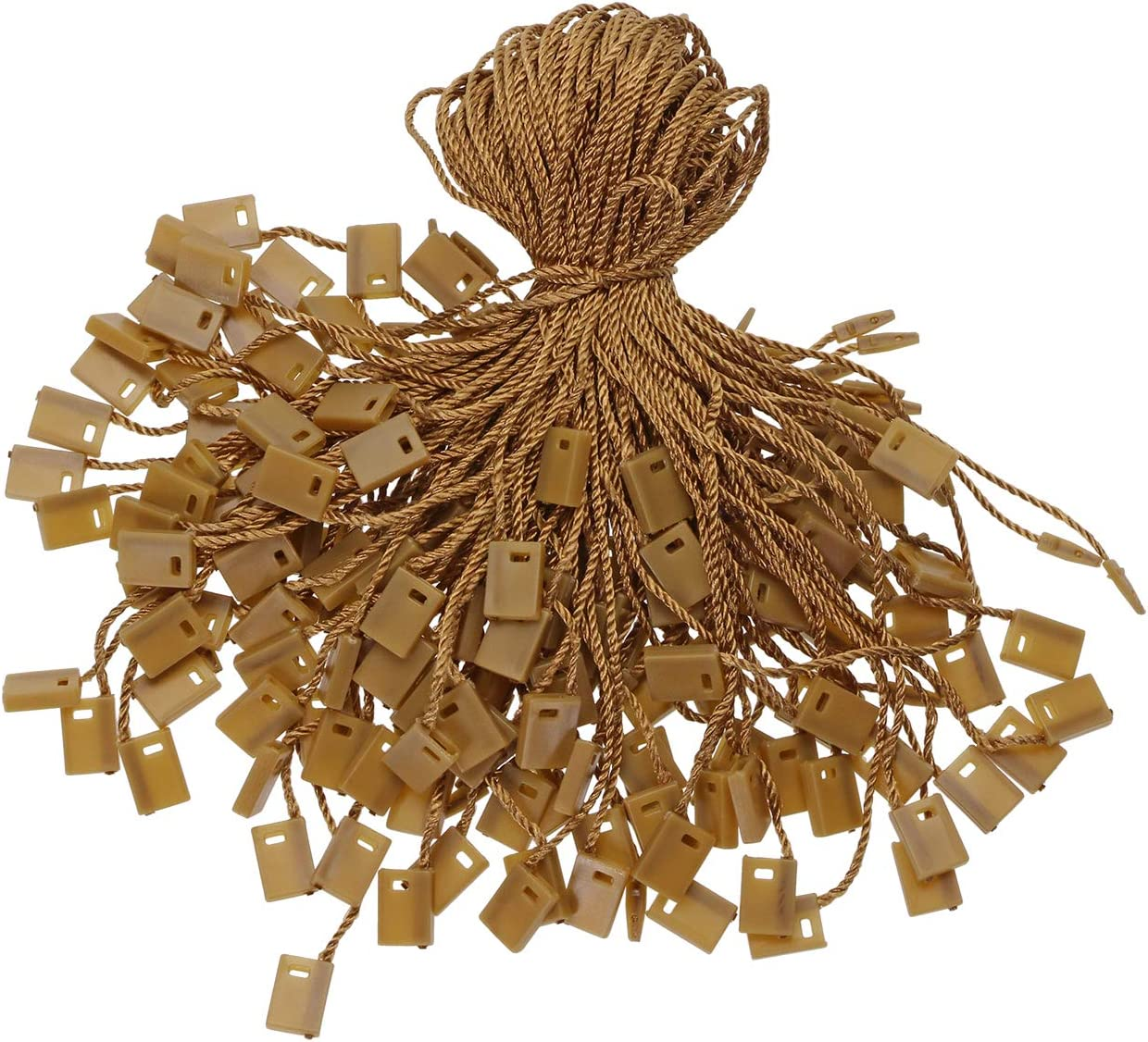 Beige 120PCS Tupalizy 7 Inch Nylon Hang Tag String for Clothes Gift Bags Price Tags Shoes Snap Lock Pin Loop Fastener Hook Ties Tag Rope for Belts Pocket Squares Luggage Label Attachment