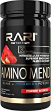 RARI Nutrition - Amino MEND - 100% Natural BCAA Powder - Essential Amino Acids - Vegan and Keto Friendly - Endurance and Recovery - Pre | Intra | Post Workout - 30 Servings (Strawberry Watermelon)