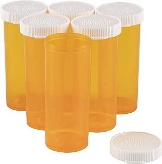 Juvale Empty Prescription Pill Vial Container 8 Dram Bottles (50 Count)