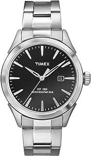 Timex Men's TW2P77300AB City Collection Analog Display Quartz Silver-Tone Watch