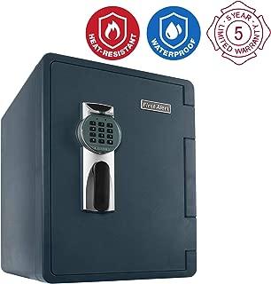 First Alert 2096DF Waterproof Fire Safe with Digital Lock, 2.14 Cubic Foot, Gray