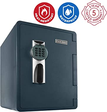 First Alert 2096DF Waterproof Fire Safe with Digital Lock, 2.14 Cubic Foot, Gray