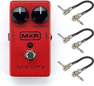 MXR M102 Dyna Comp Compressor Pedal Bundle with 3 MXR Patch Cables