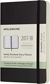 Moleskine DSB18WN2Y18 - Agenda semanal 2017-2018, 18 meses, tapa blanda, color negro (AGENDAS 18 MOIS)