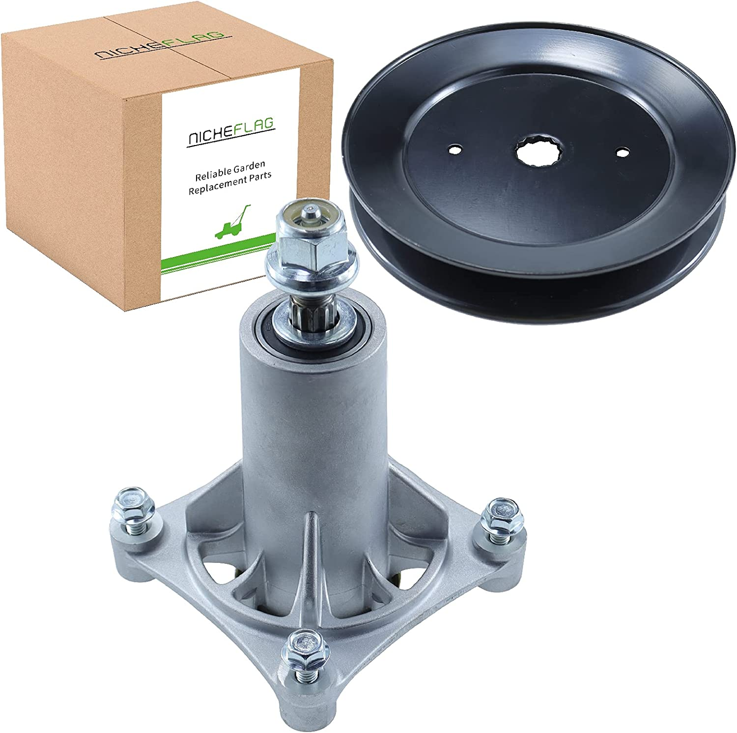 NICHEFLAG overseas 187292 Spindle Assembly with 55% OFF Pulley Drive 4 for 153535