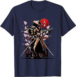 日本のサムライ、浪人武士道精神、カタナ刀 Tシャツ
