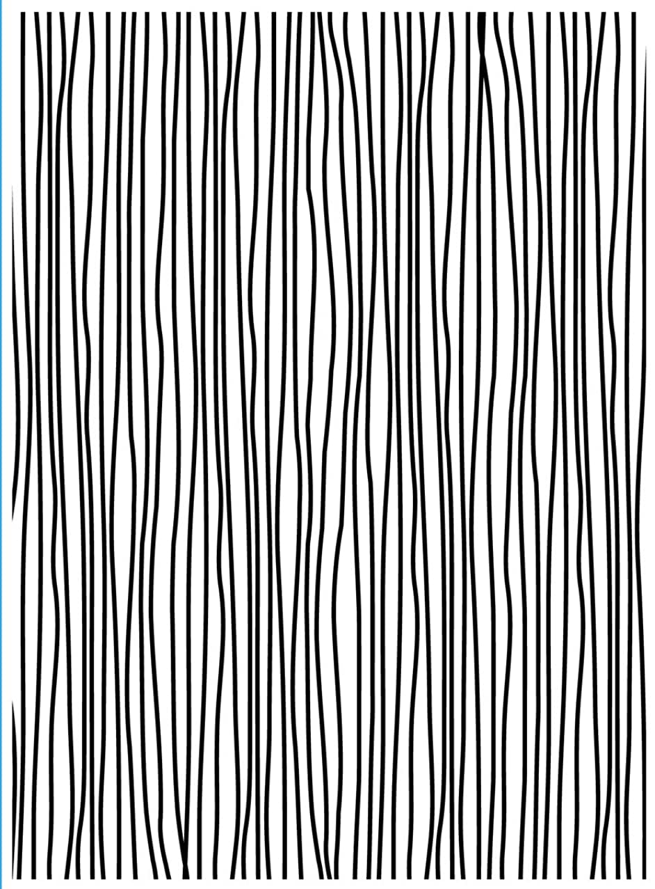 Darice 1218-65 Embossing Folder, 4.25 by 5.75-Inch, Thin Lines Design