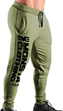 Monsta Clothing Co. Mens Workout (ES: MC-Monsta Clothing USA) Gym Cuffed Joggers