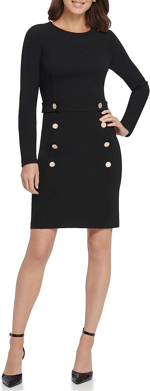 DKNY Women's Button Front Sheath