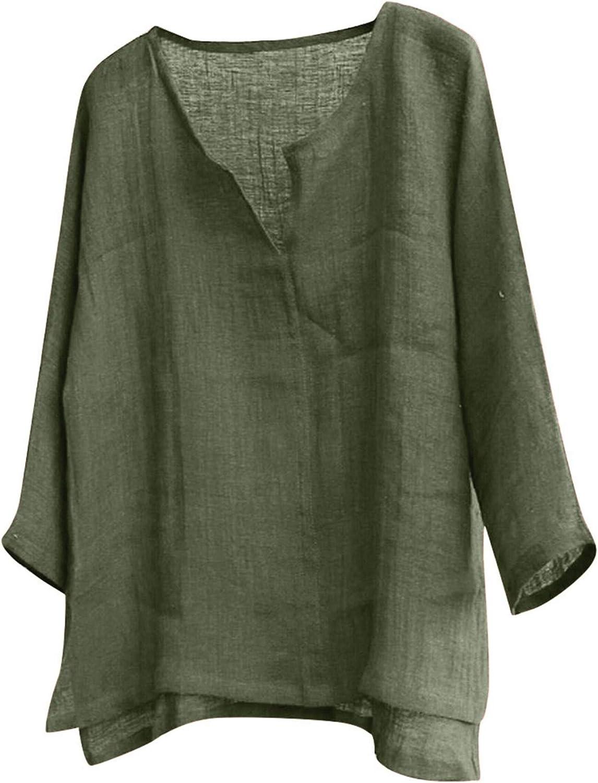 Mens Long Sleeve Henley Shirt Cotton Linen Beach Yoga Loose Fit Henleys Tops Baggy Casual Hippie V Neck T Shirts