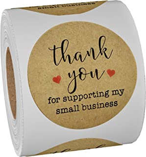 500-Piece Thank You Stickers -Thank You for Supporting My Small Business Set - Large 1.5