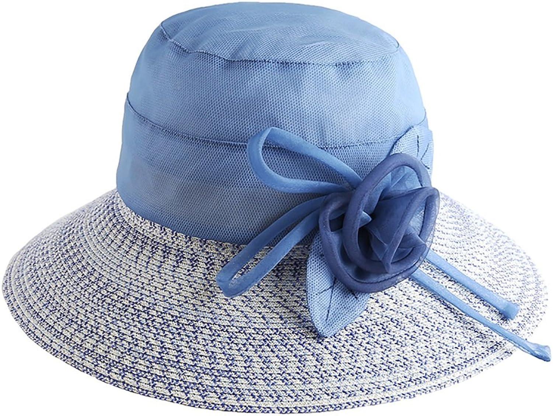 WENJUN Unisex 100% Cotton Packable Summer Travel Bucket Hat Women Lady Wide Brim Cap Visor Hats UV Predection Summer Sun Hats (color   bluee)