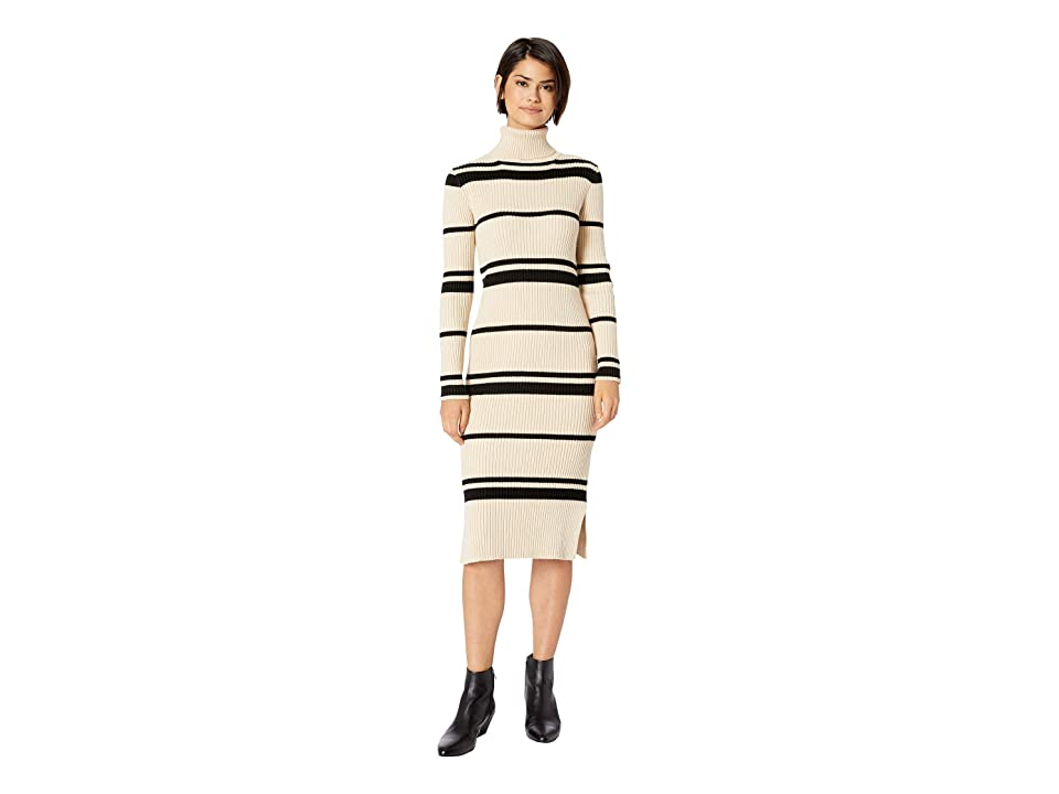 J.O.A. Striped Sweater Dress (Cream/Black) Women