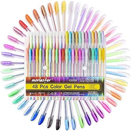 Easy GLITTER Glittergelstifteset Gelschreiber Gelstifte Gelstift Stifte 6 Farben