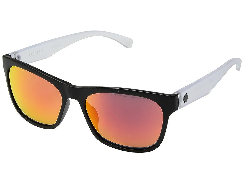 Spy Optic Sundowner (Matte Black/Matte Crystal/Gray/Red Spectra) Sport Sunglasses