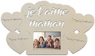 """Cadre photo 10x15 Mural """"On t'aime Maman"""" Avec Lumière Led -Cadeau Unique Pour La fêtes des mères, noël ou l'anniversaire ..."""
