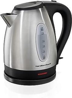کتری برقی ساحل همیلتون ، بخاری چای و آب گرم ، فولاد ضد زنگ ، سرویس بی سیم (40880) ، 1.7 لیتر ،