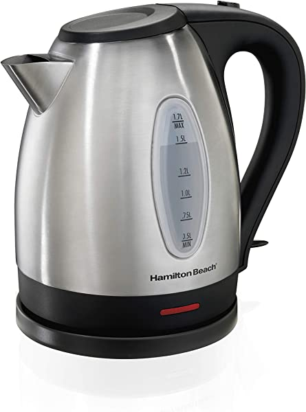 Hamilton Beach 1 7 Liter Electric Kettle For Tea And Water Cordless Auto Shutoff And Boil Dry Protection Stainless Steel 40880