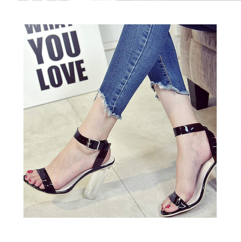 2019 Cryal Toed High Heels Women Transparent Heel Sandals Slippers Pumps 11CM