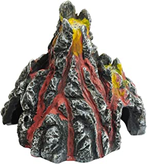 Saim Aquarium Resin Volcano Ornament Fish Tank Decoration