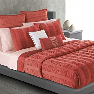 Apt 9 Coral Salmon Ripple Twin Comforter Set with Sham 2 Pieces