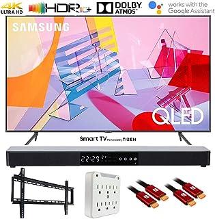 "SAMSUNG QN50Q60TA 50"" Q60T QLED 4K UHD Smart TV (2020) with Deco Gear Soundbar Bundle"