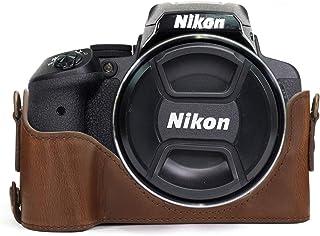 MegaGear MG955 Estuche para cámara fotográfica - Funda (Funda Nikon Coolpix P900 Coolpix P900S Marrón)