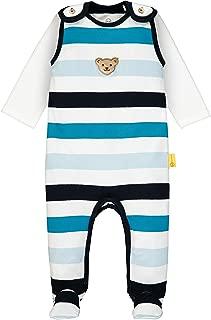 68 T-Shirt Langarm Bekleidungsset Bright White 1000 Wei/ß Herstellergr/ö/ße: 068 Steiff Baby-Jungen Set Strampler