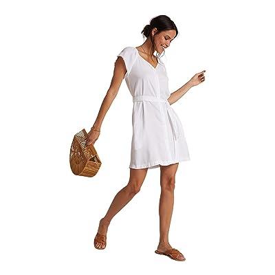 bella dahl Elastic Neck Raglan Dress (White) Women