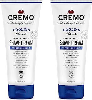 Cremo Barber Grade Cooling Shave Cream, Astonishingly Superior Ultra-Slick Shaving Cream Fights Nicks, Cuts and Razor Burn...