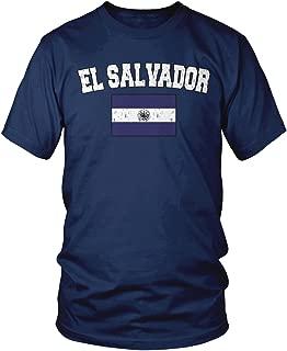 Amdesco Men's Salvadoran Flag, Home Flag of El Salvador T-Shirt