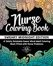 Nurse Coloring Book: Sweary Midnight Edition: Volume 2