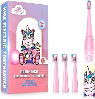 Elektrische Zahnbürste Kinder Wiederaufladbare, Ultraschall kinderzahnbürste mit Timer mit Schalltechnologie für Jungen un...