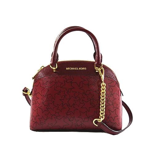 22983a1075a0 MICHAEL Michael Kors EMMY Women's Shoulder Handbag SMALL DOME SATCHEL