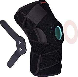 Thx4 Copper Hinged Knee Brace - Adjustable Open Patella with Straps & Side Stabilizers - Compression Support for Protection&Pain Relief - Trauma, ACL, LCL, MCL, Tears, Arthritis,Tendon, Injuries