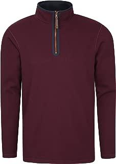 Mountain Warehouse Beta Contrast Mens Zip-Neck Top - Warm Sweater
