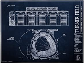 Turner Field - Blueprint Style Print